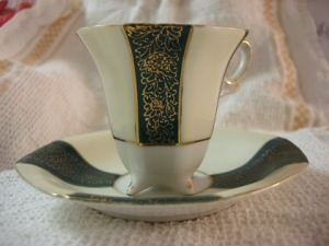 Teacup and saucer made in occupied Japan
